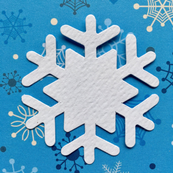 Stix-2 Die Cut Shapes White Snowflake 1